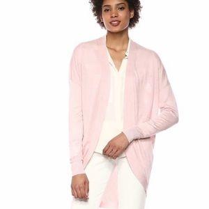 Theory Waterfall Cardigan Pink Size Large NWOT